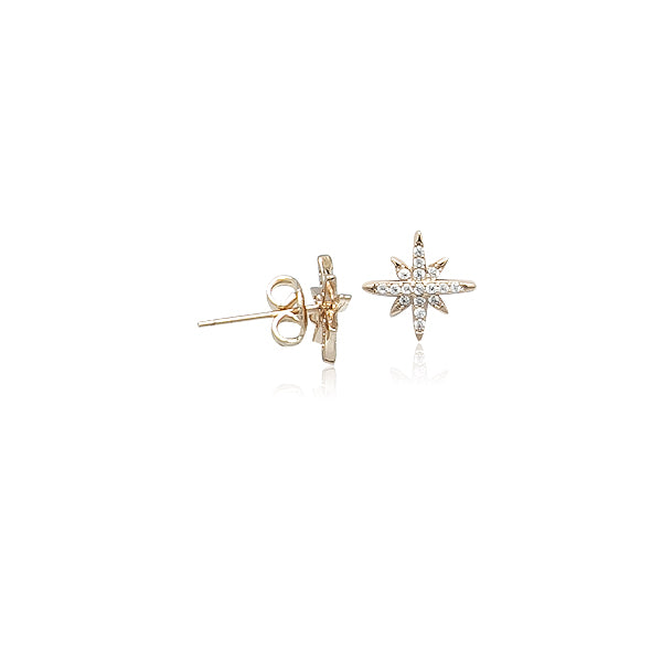 Cubic Zirconia Star Earrings - CHOMEL