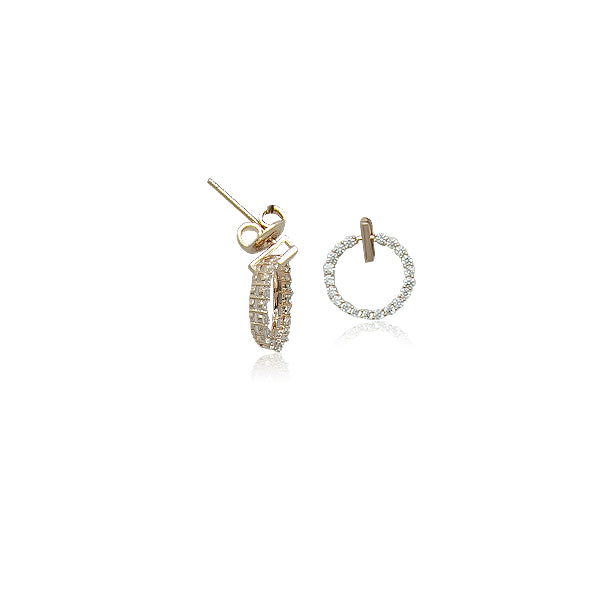 Cubic Zirconia Stud Earrings - CHOMEL