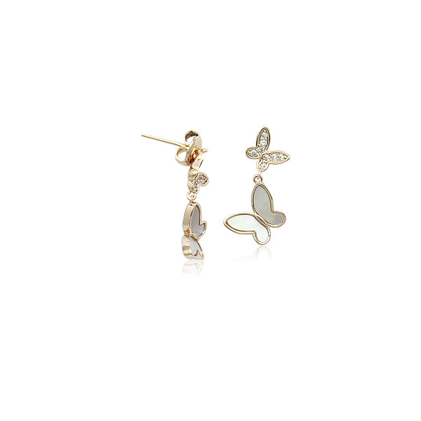 Mother of Pearl Butterfly Drop Earrings