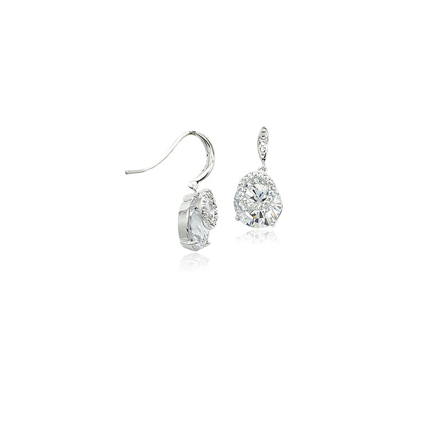 Cubic Zirconia Hooked Earrings - CHOMEL