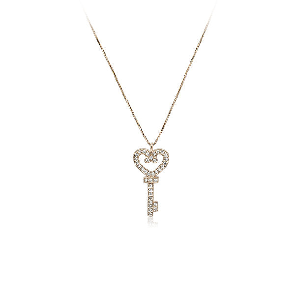 Key Cubic Zirconia Necklace - CHOMEL