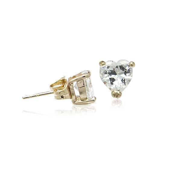 5mm Cubic Zirconia Solitaire Stud Earring - CHOMEL