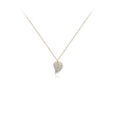 Cubic Zirconia Leaf Pendant Necklace