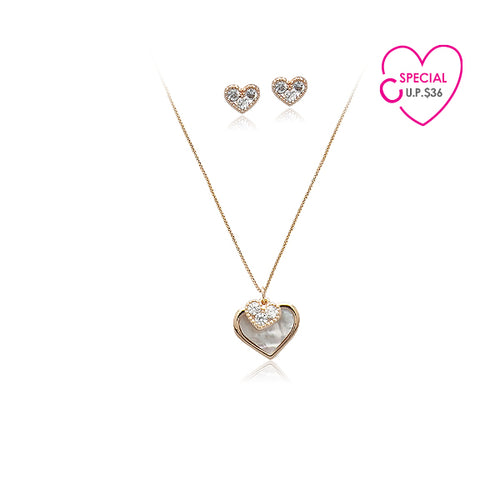 Special Buy Cubic Zirconia Necklace & Earrings Set