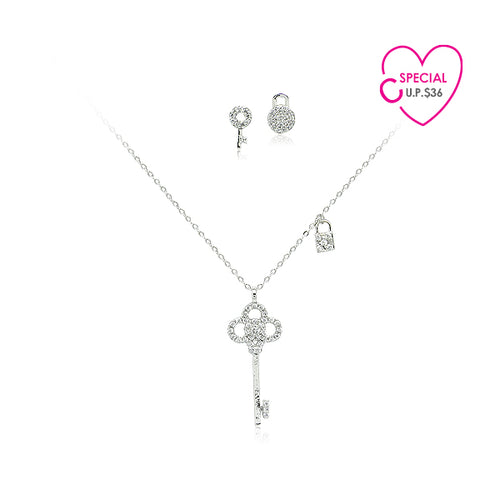Special Buy Cubic Zirconia Necklace & Earring Set