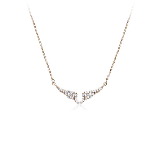 Cubic Zirconia Angel Wings Necklace