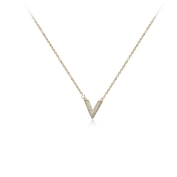V-Shaped Cubic Zirconia Necklace