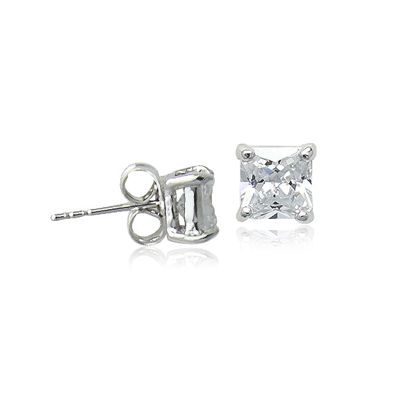 4mm Cubic Zirconia Solitaire Stud Earring