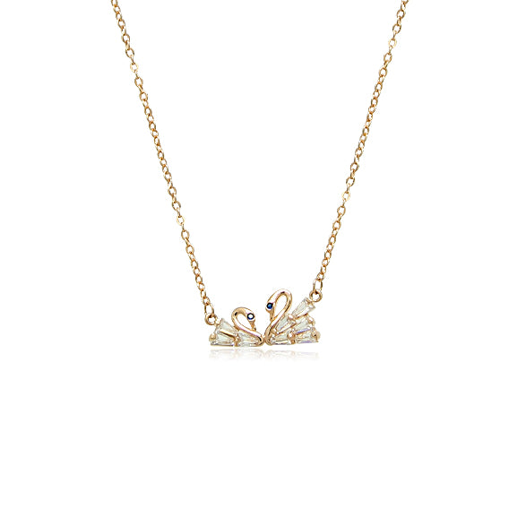 Swan Cubic Zirconia Necklace - CHOMEL