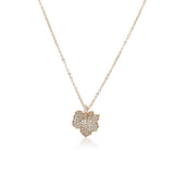Maple Leaf Cubic Zirconia Necklace - CHOMEL