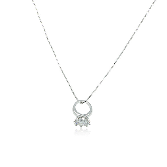Ring Cubic Zirconia Necklace