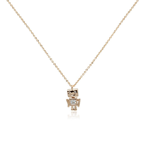 Robot Cubic Zirconia Necklace