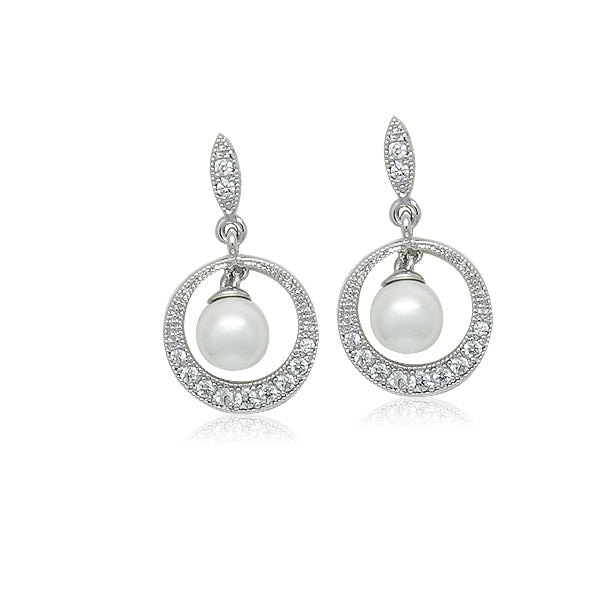 Simulated Pearl Drop Earring - CHOMEL