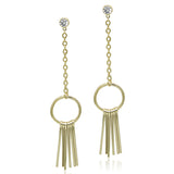 Gold-tone Drop Earring