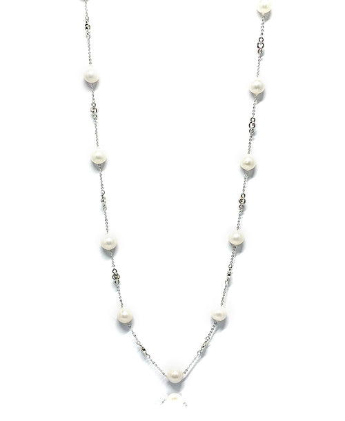 Freshwater Pearl Long Chain Necklace