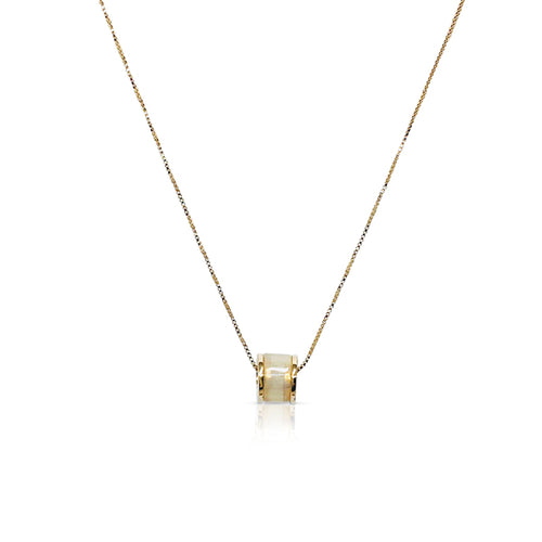 Tunnel Simulated Moonstone Necklace - CHOMEL