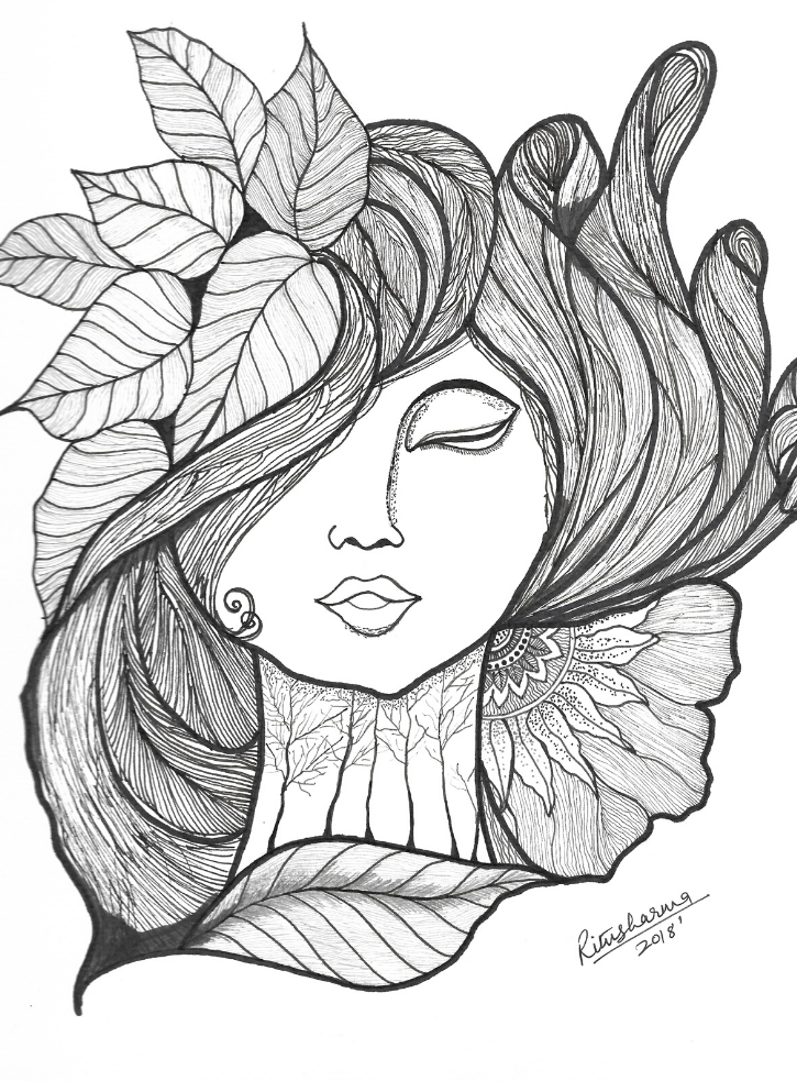 Title: Medusa's beauty Drawing