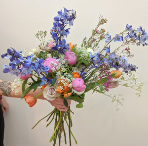 Bridal Bouquet - medium - Wild Flower Shop