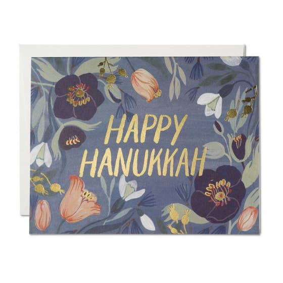 Floral Hanukkah Card - Wild Flower Shop