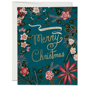 Merry Christmas Card - Wild Flower Shop