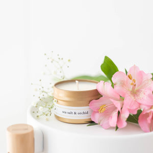 Gold Travel Candles - Wild Flower Shop
