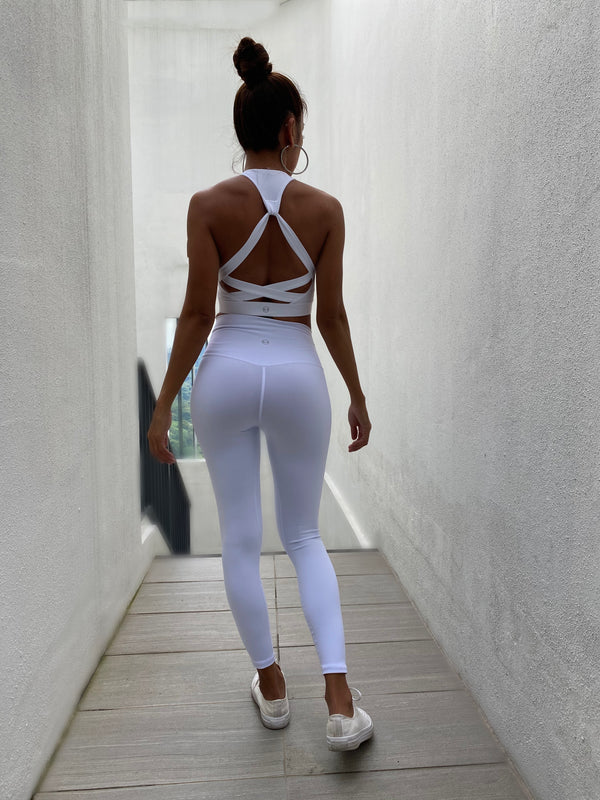 WHITE leggings - Ikadancewear