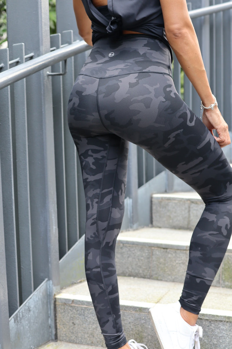 BLACK CAMO Leggings - Ikadancewear
