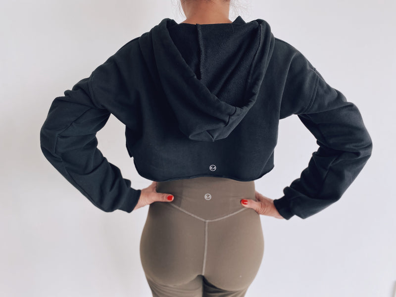 High Low Crop Hoodie - Ikadancewear