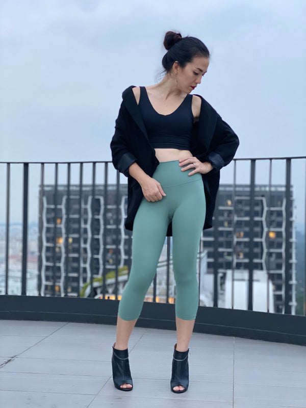 Crop Fire Leggings - Ikadancewear