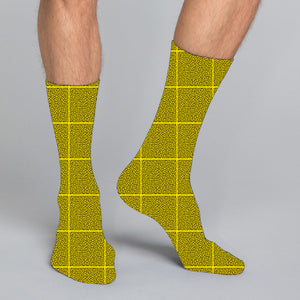 Men's and women's casual crew socks in unique colorful design celebrating food, fashion, fitness, fun