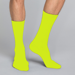 Women's, men's & youth's casual crew socks in unique colorful orange & green design celebrating food, fashion, fitness, fun