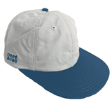 Crupie Dots 6-Panel Snapback Cap White/Teal