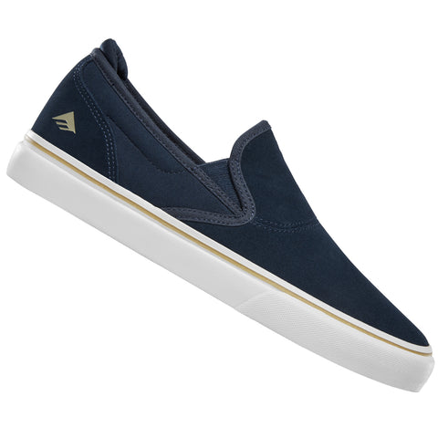 Emerica Wino G6 Slip-On Skateboard Shoes in Navy
