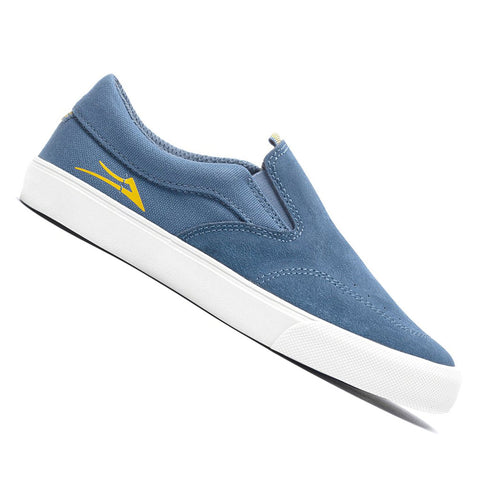 Lakai Kids Owen Slip-On Skateboard Shoes in Slate Suede