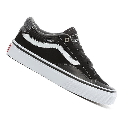 Vans Kids TNT Advanced Prototype Black/White Skateboard Shoes