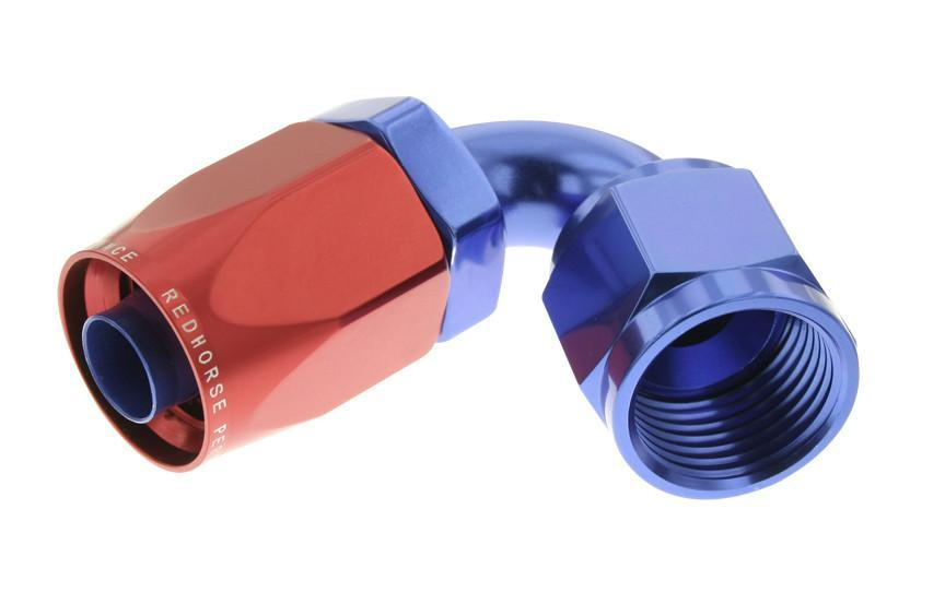 SWIVEL HOSE END 08AN-120D RED