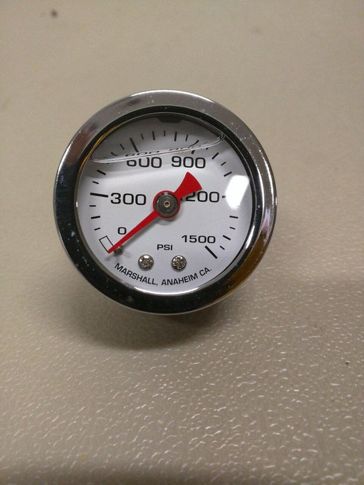 Nitrous Oxide pressure gage- liquid filled 1500 psi