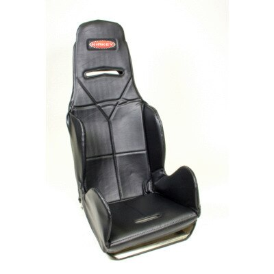 Seat and Cover, 16 Series Economy Drag, 15-1/2 in Wide, 20 Degree Layback, Black Vinyl Cover Included, Aluminum, Natural, Each