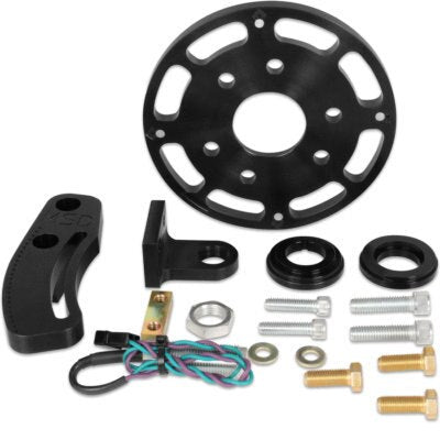 Crank Trigger Kit, Flying Magnet, Trigger Wheel / Pickup, 7.000 in Balancer, Small Block Chevy, Kit(BLACK FINISH)