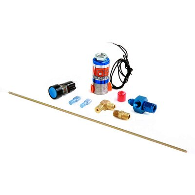 Nitrous Oxide Purge Kit, Super PowerShot, Single Outlet, Solenoid / Wiring / Fittings / Button, 4 AN Hose, Kit