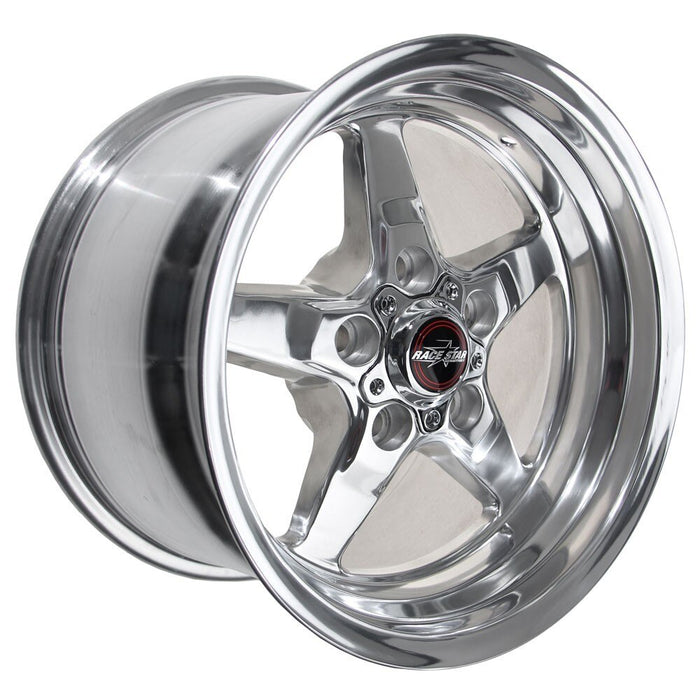 Race Star 92 Drag Star 15x10.00 5x4.50bc 6.25bs Direct Drill Polished Wheel (each)