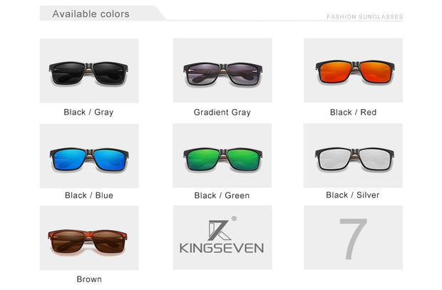 KINGSEVEN® - Bamboo™ 2021 W5508 Wood Handmade Sunglasses