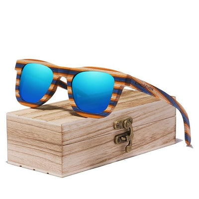 KINGSEVEN® - Bamboo™ 2021 C5925 Wood Handmade Sunglasses