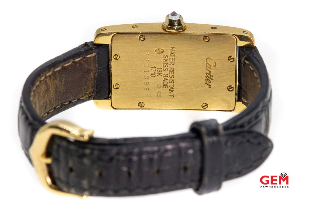 Cartier Tank Americaine 1710 18K Yellow Gold & Diamond Watch