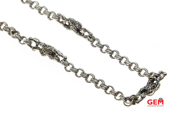 Barry Kieselstein 925 Sterling Silver Frog Necklace Chain 18""