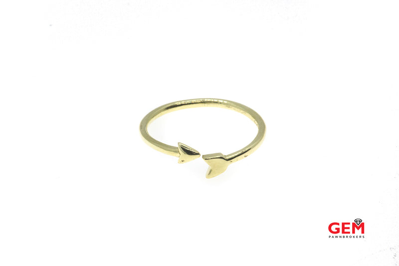 Finn Jewelry Arrow Wrap Around Thin Wire Band 18K 750 Yellow Gold Ring Size 8
