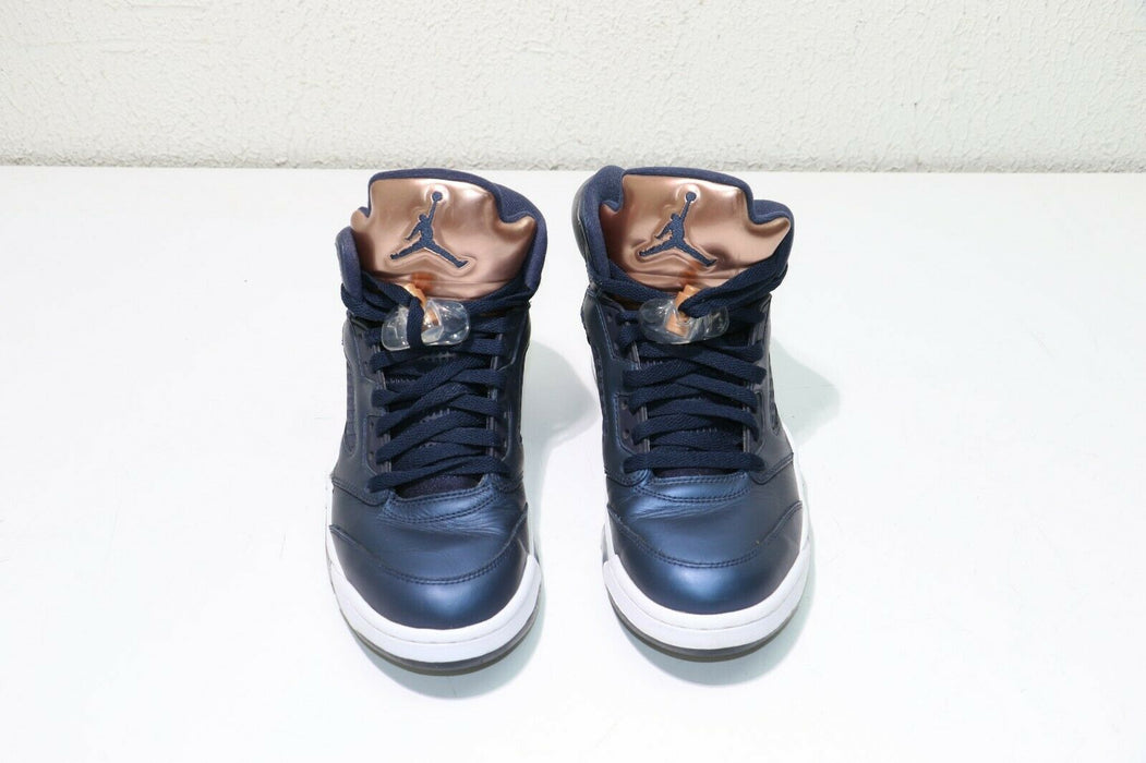 "Nike Air Jordan 5 Retro ""Bronze"" Obsidian Blue 136027 416 Size 8"