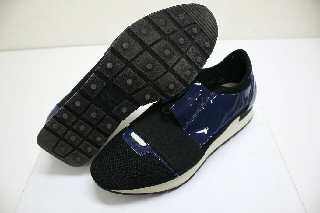 Balenciaga Race Runner Black/Blue Womens Size 42 EUR / 10 US