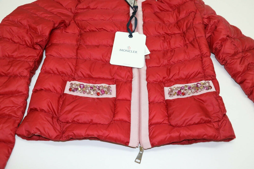 MONCLER Longue Saison Red Puffer Jacket Size 1