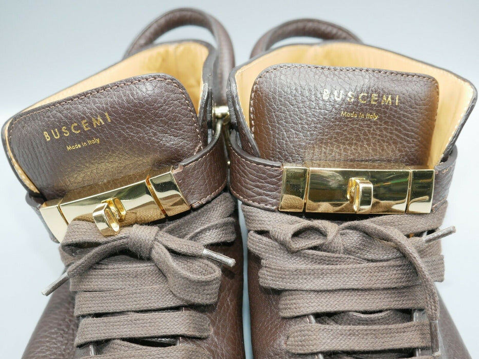 Buscemi Men Shoes Made in Italy Dark Brown EUR Size 43 US Size 9
